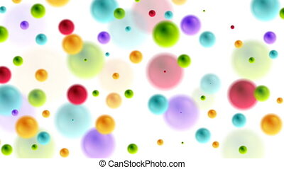 Colorful balls bubbles video animation - Colorful balls...