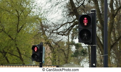 Old Style Traffic Crossing Light