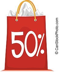 Shopping Bag with 50% Discount