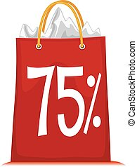 Shopping Bag printed 75% Discount - Vector Illustration of...