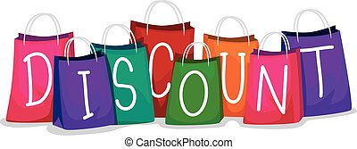 Colorful Shopping Bag with Discount