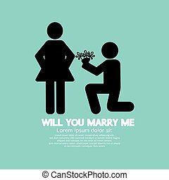 Will You Marry Me Graphic Symbol.