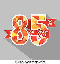 Discount Eighty Five Percent Off.