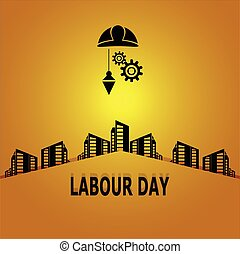 Labour day, construction concept illustration - Labour day,...