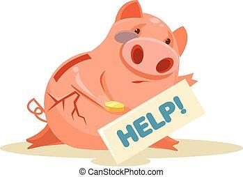 Poor piggy bank