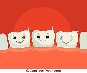 Happy healthy teeth