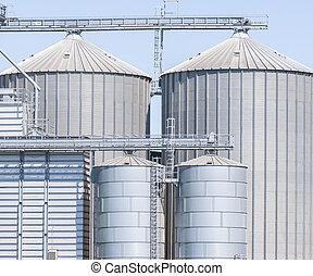 almacenamiento, facilidad, cereales, y, biogas,...