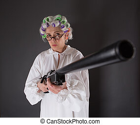 Grandmother in defence