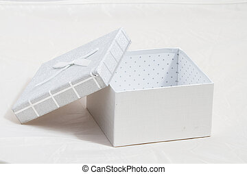 empty gift box on a white background