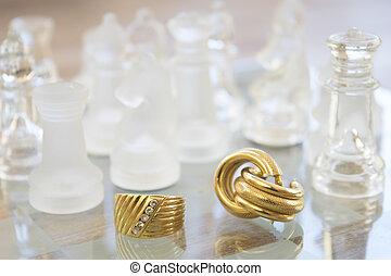 Glas schackbräde
