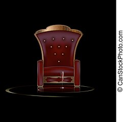 darkness and armchair - the large armchair in the dark room...