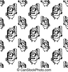 seamless patterbn with minion vector - seamless pattern with...