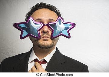 ENGRAÇADO, loucos, celebridade, achiever, estrelas, homem...