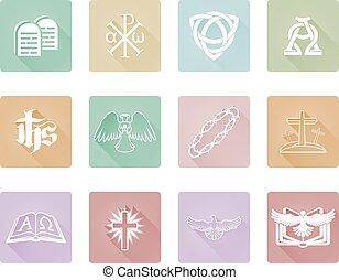 Christian Icon Set Series - A set of Christian religious...