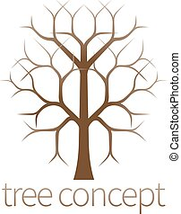 Tree icon - A conceptual illustration design of a stylised...