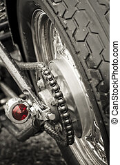 motorcycle chain - motorcycle rear wheel and drive chain...
