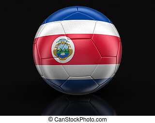 Soccer football with flag - Soccer football with Costa Rican...