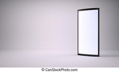 Black empty lightbox in the studio
