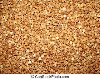 buckwheat unground many closeup