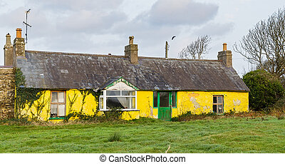 Rundown house - Photo of a rundown house in an irish farm
