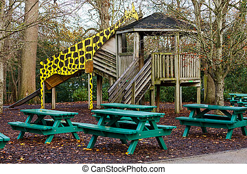 Playground for childrens - Photo of a playground for...