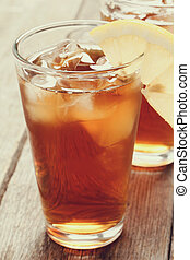 Ice tea - Refreshing ice tea drink with lemon