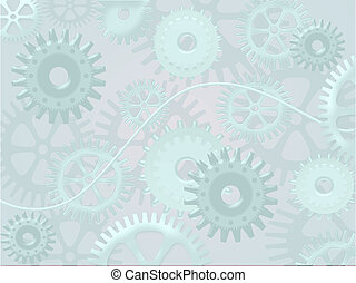 abstract background with cogwheels