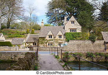 "Cotswolds - Ancient village ""Lower Slaughter"" in the..."