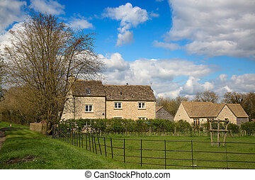 "Cotswolds - Ancient village ""Upper Slaughter"" in the..."