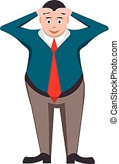 Businessman  in the style of cartoon