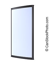 Advertising blank outdoor lightbox on white background 3d...