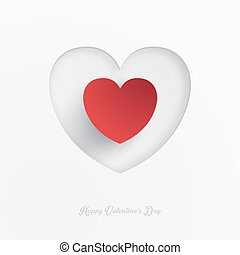 Heart Shape Valentine's Day Paper Cut-out Vector