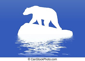 Polar bear - Illustration of a Polar bear standing on a...