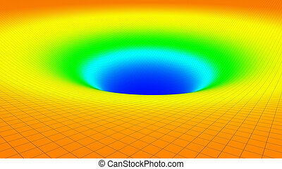 3D illustration of surface dimentional graph of mathematical...