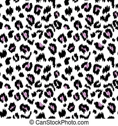 Leopard print vector seamless pattern texture Illustration