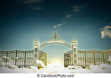 haven gate - 3d illustration of the heaven gate