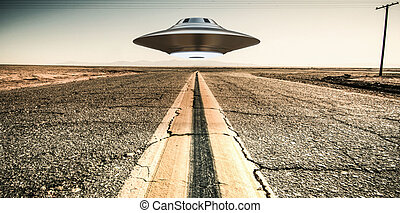 unidentified flying object - 3d illustration of a...
