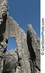 stone forest shilin china asia - the stone forest near...