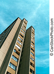 Socialist architecture example, tall residential skyscraper...