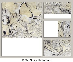 Marble buisness cards Collection of buisness cards Vector...