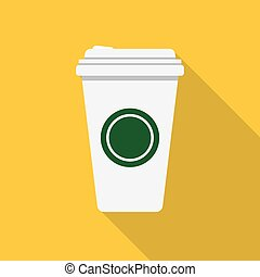 coffee cup icon - Disposable coffee cup icon with coffee...