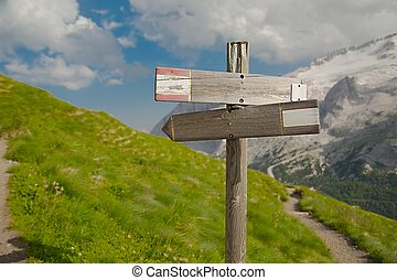 Hiking Direction Sign