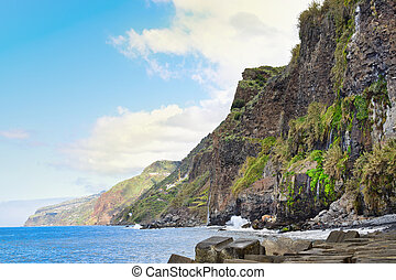 Coastal lanscape in Madeira island, Portugal