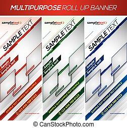 Modern multipurpose roll up banner - Multipurpose roll up...