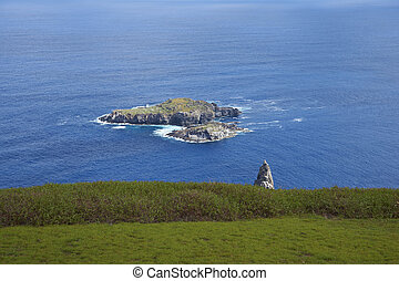 Motu Nui, Easter Island - Islands of Motu Nui and Motu Iti...
