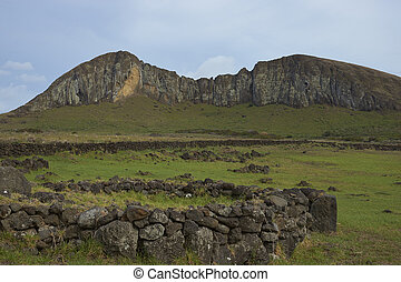 Ahu Tongariki, Easter Island - Ahu Tongariki. Site of a...