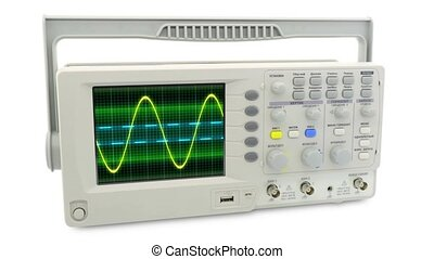 Seamless loop animation moving sine wave on an oscilloscope...