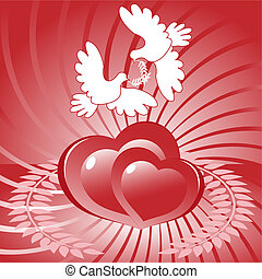 Heart and dove
