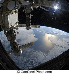 Planet Earth from space. Elements of this image furnished by...