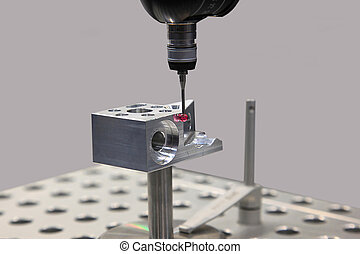 Measurement in mechanical engineering - Detail of the tip of...